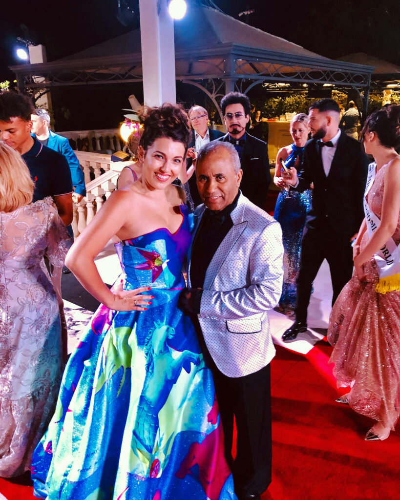 Nicola with Producer, Entrepreneur and Fashion Designer Andres Aquino
