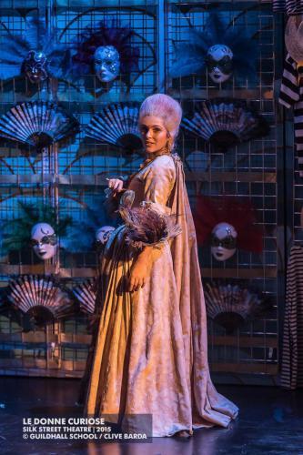 Nicola Said as Rosaura (Le Donne Curiose by Wolf-Ferrari, Guildhall Opera) © Clive Barda