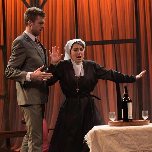 Nicola Said as Norina & Josep Ramon-Olivé as Malatesta (Don Pasquale, Guildhall Opera Scenes) ©Tim Holt