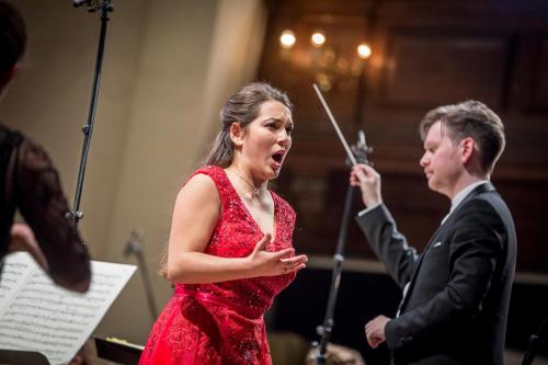 Nicola Said Soprano, Jonathan Bloxham conducting the Northern Chords Festival Orchestra at the Europe Concert Day, St. John's Smith Square © Jamie Smith